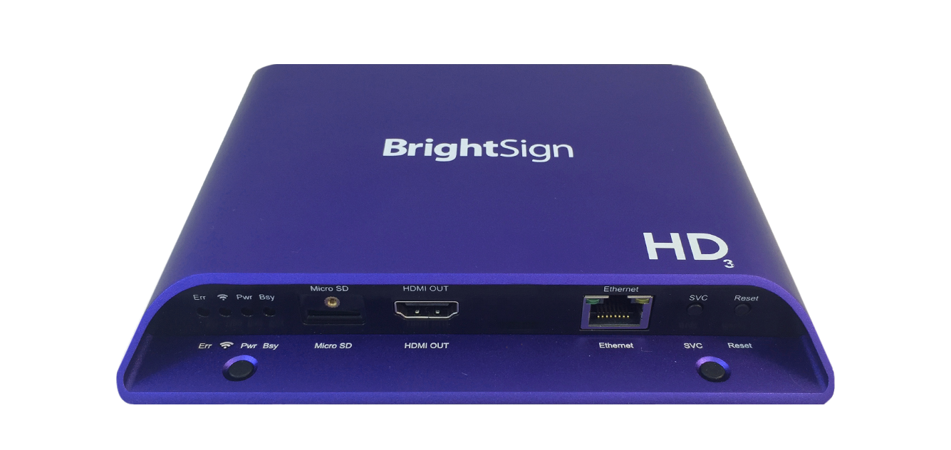 Brightsign hd223 standard i o player Hd video hd video hd video hd video